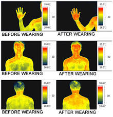 thermal imaging photos for enhanced blood flow with scalar energy pendant